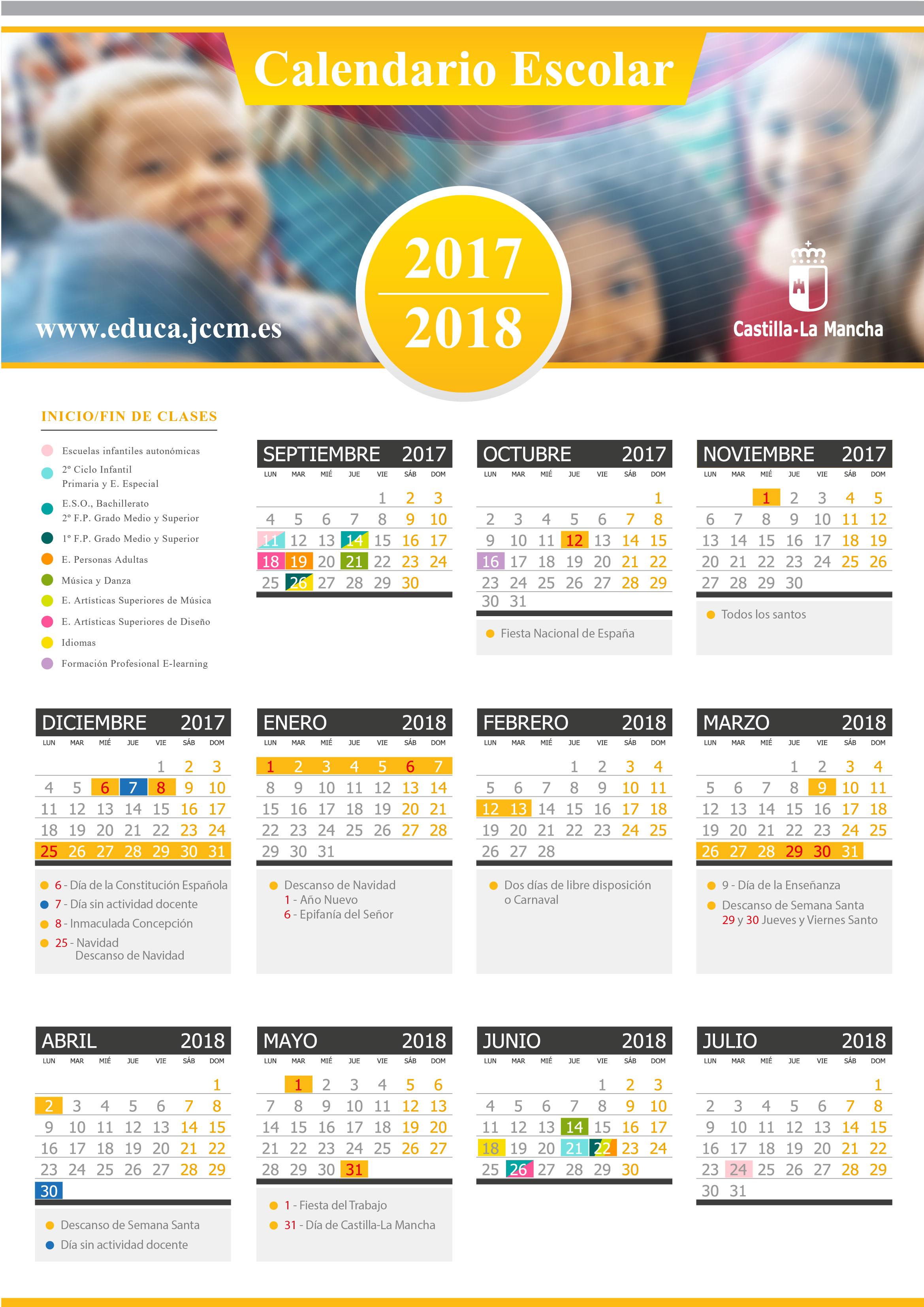 Calendario Escolar 2017-18 CLM