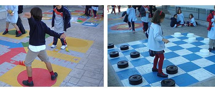 Un colegio de Toledo recupera juegos populares en el patio del recreo