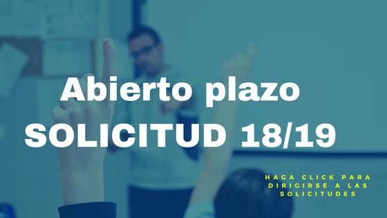 Solicitud de plaza para nuevos alumnos 2018-19