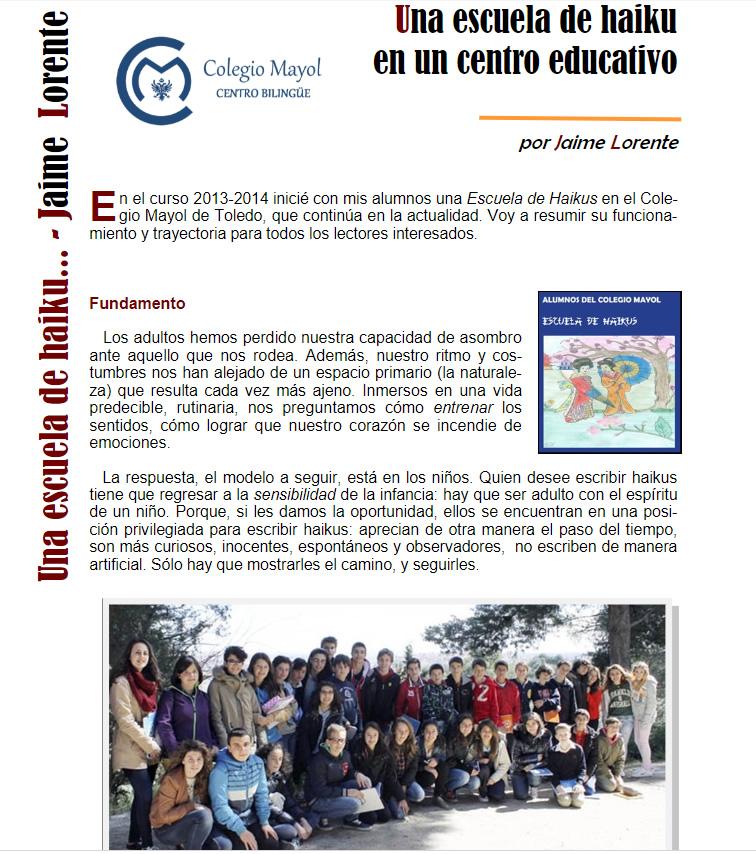 Escuela de Haiku Colegio Mayol