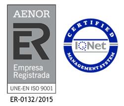 Certificación de Calidad AENOR UNE-EN ISO 9001