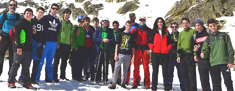 Ruta de senderismo con los alumnos del Internado