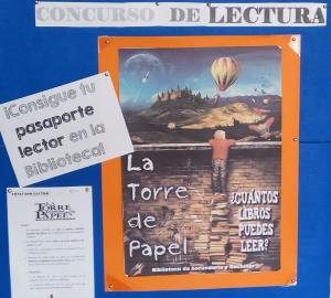 Cartel Concurso de Lectura - Biblioteca Colegio Mayol