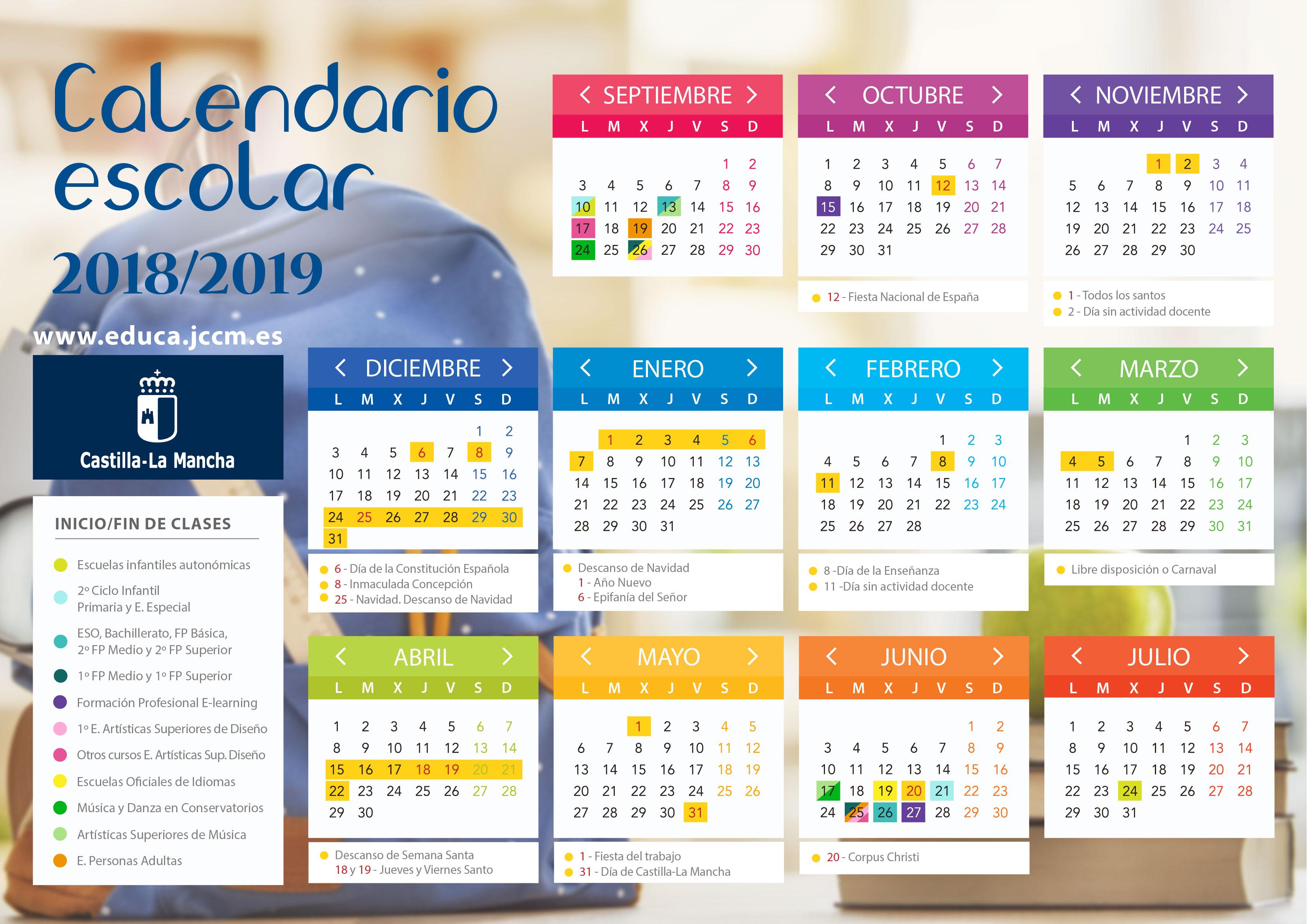 Calendario Escolar CLM 2018_19