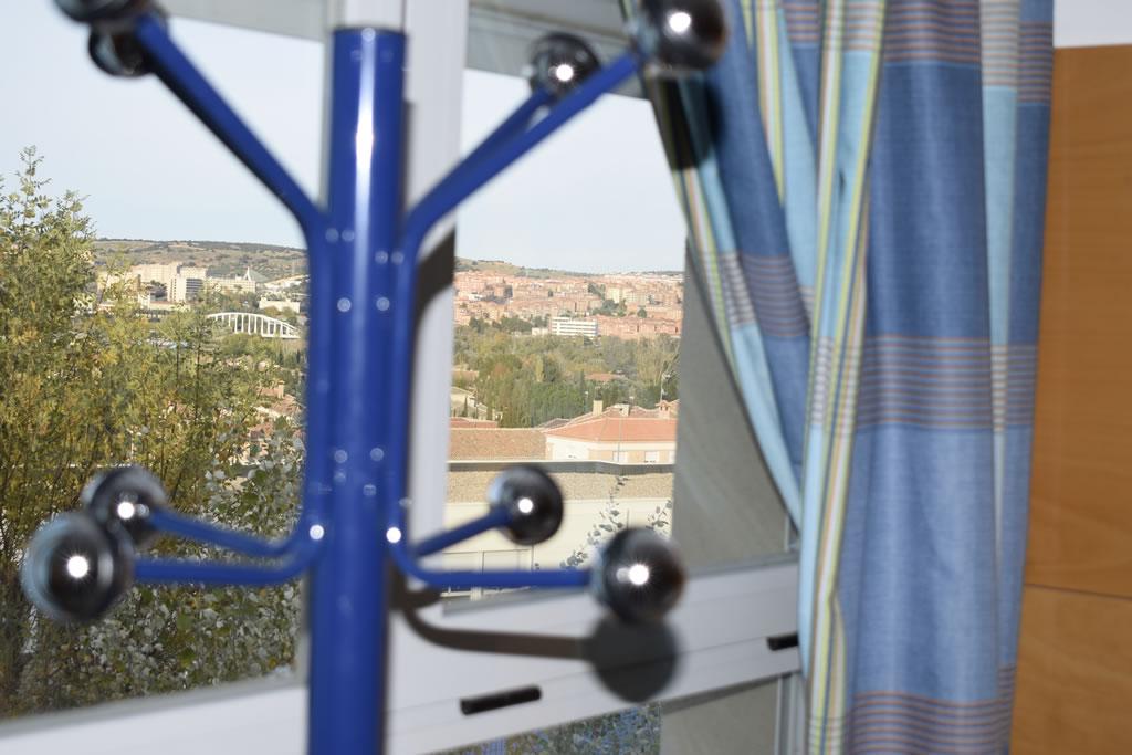 Vistas incomparables a Toledo desde las habitaciones de la residencia